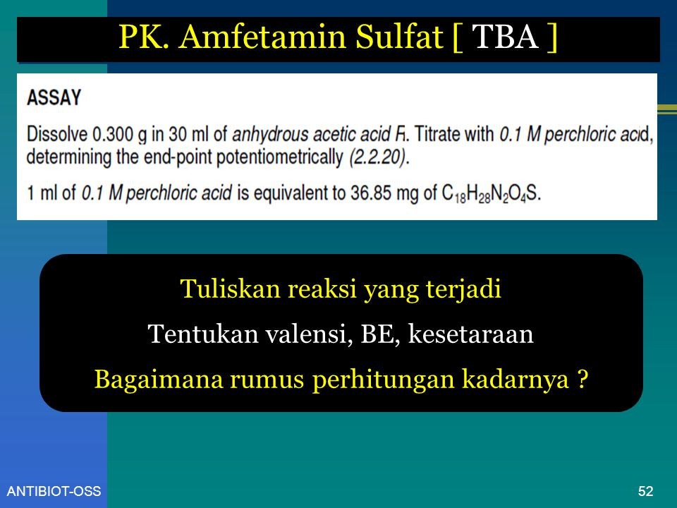 PK. Amfetamin Sulfat [ TBA ]